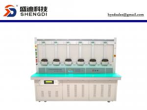China 1 and 3 phase KWh meter test bench 6 position Accuracy class 0.05%, 57.7-460 Voltage 0-100 A current  45-65 Hz on sale