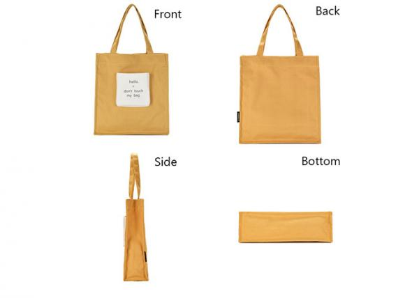 110d8f555 Yellow 12A Washable Canvas Shopping Bags With Magbetic Snap Front Pocket  Images