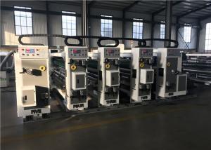 China Corrugated Paperboard Carton Machine , Ink Printing Die Cutting Machine on sale
