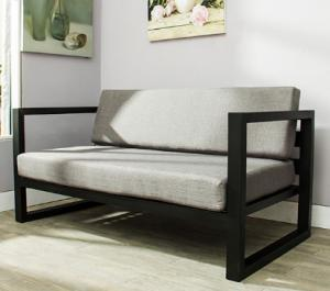 Metal Frame Sofa Set Black Armchair