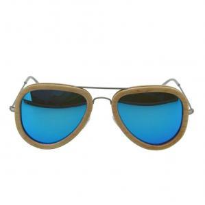 China Full rim natural polarized wood sunglasses / wood frame eyeglasses on sale