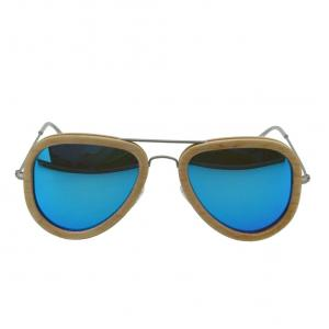 China Full rim natural polarized wood sunglasses / wood frame eyeglasses on sale