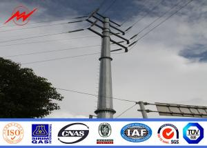 China 69KV steel pole 25ft Galvanized Steel Pole with cross arm on sale