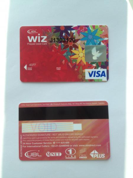 Prepaid Visa Card >> Iso Standard Prepaid Visa Smart Debit Card With Hico Black