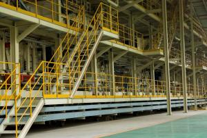 China Bamboo Particle Board Production Line  Hydraulic System Panel 2440 X 1220 Mm on sale