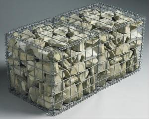 China Welded Gabion Mesh Box / Galvanized Gabion Rock Wall Cages For Garden Fence on sale