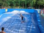 Water Park Surfing Skateboard Equipment Fiberglass Flowrider With Wave Surfing Machine