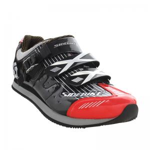China Athletic Sports Casual Biking Shoes Red And Black Water Resistant Anti - Collision Design on sale