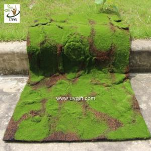 China UVG latest wedding decoration fuzzy artificial moss runners use for party stage arrangement GRS041 on sale