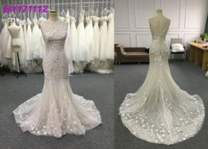 China Spring And Summer Elegant Mermaid Style Wedding Dress Floor Length Embroidery on sale