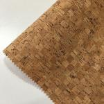 0.4-1.2MM Thickness Cork Leather Fabric Natrual Sound Insulating Dirt Repellent