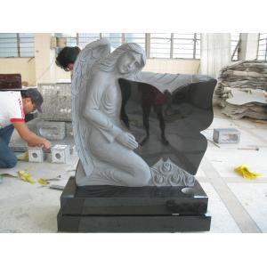 China Mémorial en pierre de monument de pierre tombale de granit de pierre tombale de papillons on sale