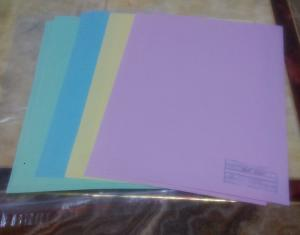 China Customized Printed pink yellow blue green color offset bank NCR paper sheets forms on sale