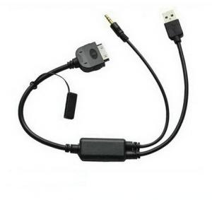 China BMW I-DRIVE iPod iPhone Audio input Charge Cable For BMW Mini Cooper E60,E71,E87 on sale