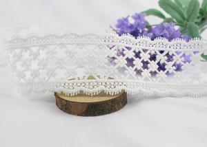 China Vintage Delicate Crochet Floral Lace Trim 100 % Cotton For Bridal Veil / Baby's Shirt on sale