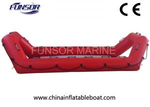 China High Performance Inflatable Rescue Boat , Red Towable Army Inflatable Boats on sale