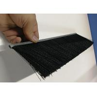 Nylon Bristle Metal Channel Strip Brushes Aluminium Holder For Dust Removal