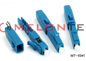 China Lightweight Blue Fiber Optic LC Connector FTTH LC Assembly Without Fusion Splicing Machine on sale