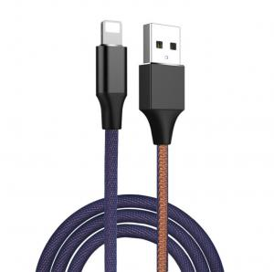 China Jeans Fabric Fast Charge Type C Data Cable USB 3.1 Packaging Customized on sale