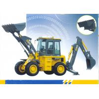 65kw Engine Loading Bucket 1.0 CBM Tractor Loader Backhoe With 9500 Kg Operating Weight