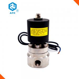 China Stainless Steel High Pressure Water Valve , 12V 2 Way High Pressure Steam Valve on sale