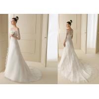 Luxurious Applique Tea Length Wedding Dresses For Slim Girls And Woman