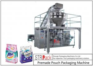 China Powder / Granules Premade Pouch Packaging Machine High Efficiency With Linear Weigher on sale