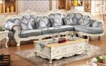 Hot sale latest design large fabric corner sofa