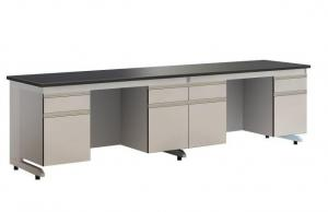 China Modern Colorful Steel / Wood Lab Bench Modular Laboratory Furniture on sale