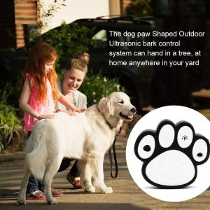 China Dog Paw Shape Ultrasonic Dog Bark Control Indoor Outdoor Deterrent Control Device on sale
