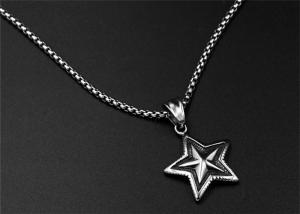 China Pagan Wicca Inverted Pentagram Pendant Necklace Fashion Designs High Pulished on sale