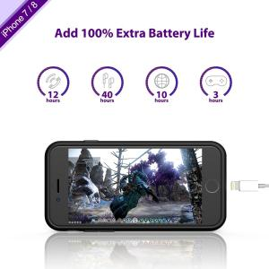 China Protection Lighting Interface Charging Phone Cases , External Battery Case Capacity3000mah on sale