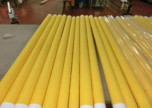 China Low Elongation Monofilament Polyester Screen Printing Mesh With White And Yellow on sale