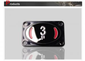 China Rectangle Elevator Push Button , 4 Pin Push Button Mount With Screw SN-PB125 on sale