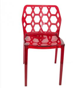 China Red Plastic Garden Chairs For Outdoor Use , Armless Scratchproof on sale