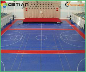 Multi Purpose Suspended Modular Sports Flooring Used For Badminton - Used basketball court flooring for sale