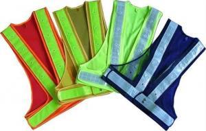 China Chalecos reflexivos 100% de la seguridad del tejido de poliester con la cremallera EN20471 y el estándar del CE on sale