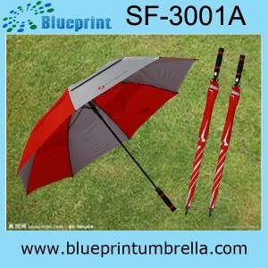 China parapluie annoncé de golf d'impressions de logo on sale