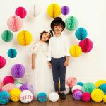 Party Wedding Decoration Paper Craft Tissue Paper Honeycomb Balls Pom Pom Flower Ball