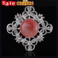 Retro Fashion Women Jewelry Gold Plated Opal Flower Brooch Broches Pins,Silver Brooches
