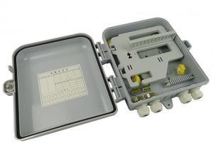 China Outdoor Cable Fiber Distribution Box 4 Ports For CATV Networks , ABS Plastic Housing on sale