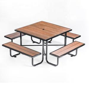 China Leisure 120*120*75cm Beer Garden Table And Benches on sale