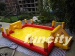 Popular Red And Yellow Inflatable Soccer Field Indoor Or Outdoor