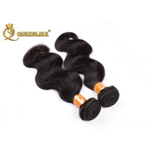 China 12 Inch - 30 Inch Body Wave Indian Human Hair Weave 95-100grams on sale