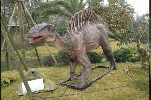 China Realistic Electric Life Size Robot Interactive Realistic Animatronic Dinosaur For Sale on sale