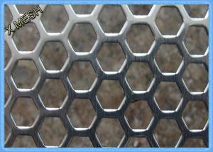 China Anodizing Hexagonal Perforated Aluminum Sheet / Screen 1.5mm Thickness on sale