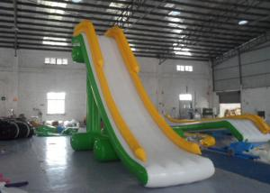 China Narrow Tarpaulin Blow Up Water Slide , Large Inflatable Water Slides CE Certificated on sale