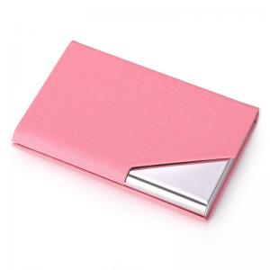 China Pink Custom Business card holder wallet for gifts for girlsl,square business card holder on sale