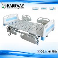 Three Positions Portable Hospital Bed Emergency Manual Crank With Central Brake Castors , 100cm Width