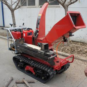 China Crawler type self-propelled wood chopper crusher garden orchard trimmer on sale